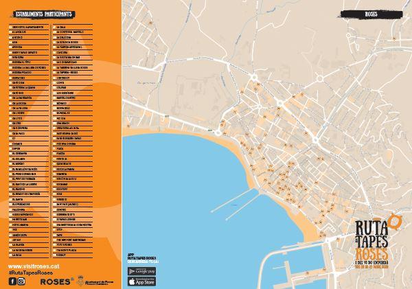 Mapa Roses restaurants Ruta de les Tapes